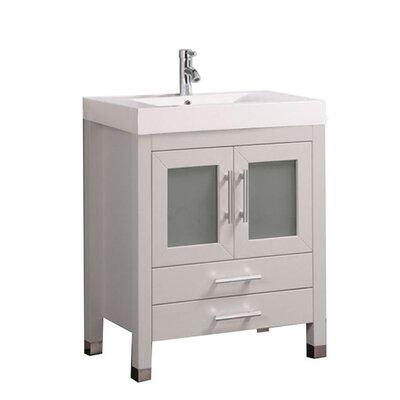 Preciado Modern 30 Wood Base Single Bathroom Vanity Set Base Finish: White