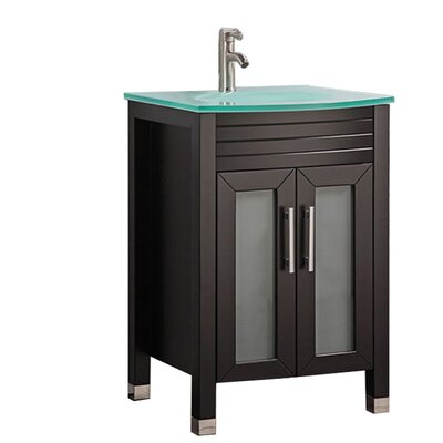 Pratt Modern 24 Single Bathroom Vanity Set Base Finish: Espresso