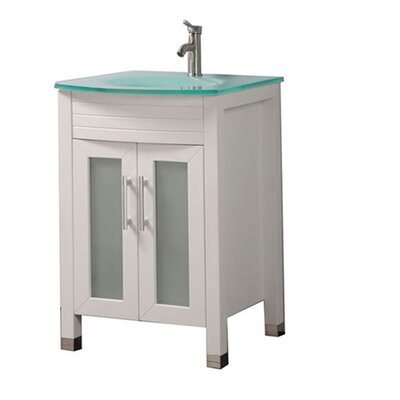 Pratt Modern 24 Single Bathroom Vanity Set Base Finish: White