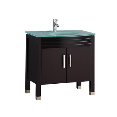 Pratt Modern 32 Single Bathroom Vanity Set Base Finish: Espresso