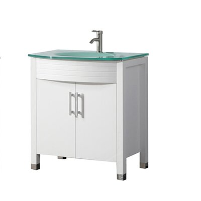 Pratt Modern 32 Single Bathroom Vanity Set Base Finish: White
