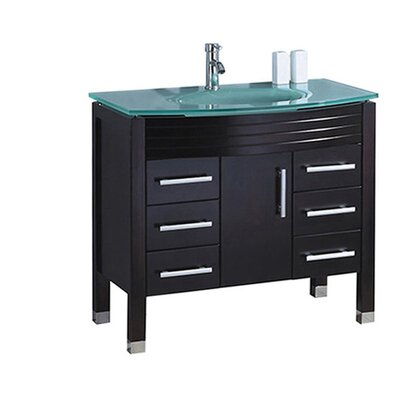 Pratt Modern 48 Single Bathroom Vanity Set Base Finish: Espresso