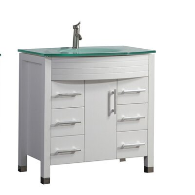 Pratt Modern 48 Single Bathroom Vanity Set Base Finish: White