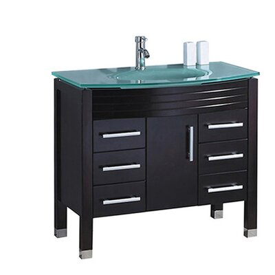 Pratt Modern 36 Single Bathroom Vanity Set Base Finish: White