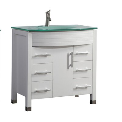 Pratt Modern 36 Single Bathroom Vanity Set Base Finish: Espresso