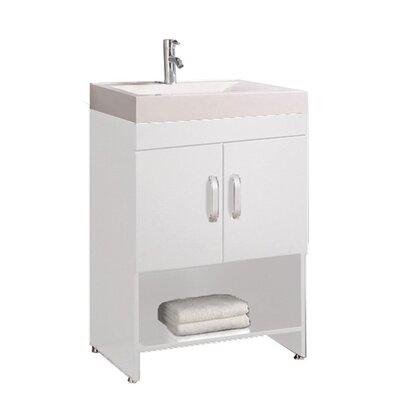 Preas Modern 24 Single Bathroom Vanity Set Base Finish: White