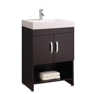 Preas Modern 24 Single Bathroom Vanity Set Base Finish: Espresso