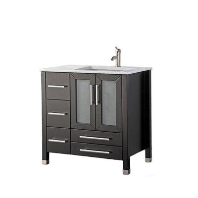Nadeau Modern Right Side 36 Single Bathroom Vanity Set Base Finish: Espresso