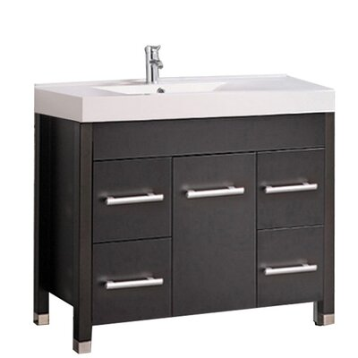 Preas Modern 36 Single Bathroom Vanity Set Base Finish: Espresso