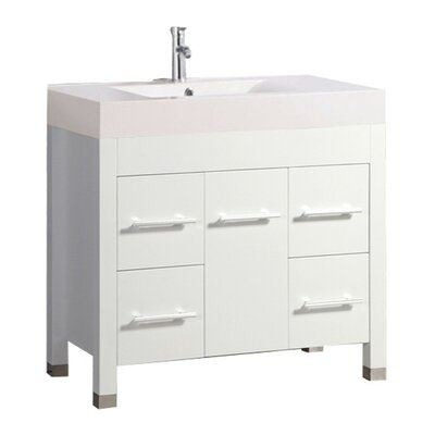 Preas Modern 36 Single Bathroom Vanity Set Base Finish: White