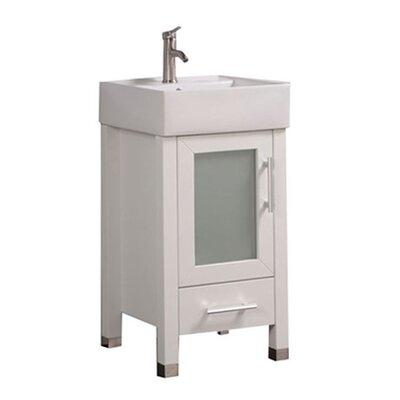 Govea Modern 18 Single Bathroom Vanity Set Base Finish: White