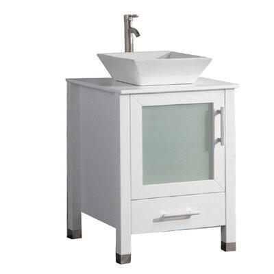 Govea Modern 24 Single Bathroom Vanity Set Base Finish: White