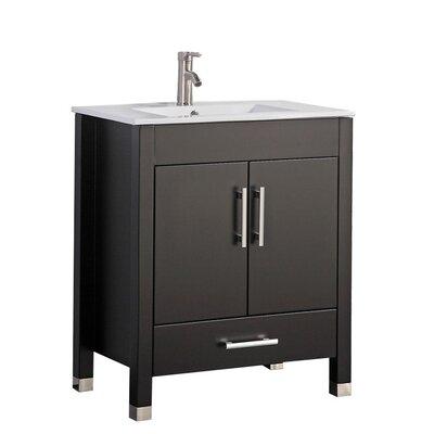 Predmore Modern 24 Single Bathroom Vanity Set Base Finish: Espresso