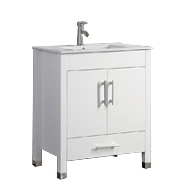 Predmore Modern 24 Single Bathroom Vanity Set Base Finish: White