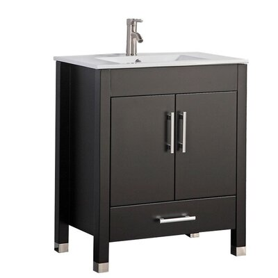 Predmore Modern 36 Single Bathroom Vanity Set Base Finish: Espresso