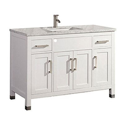 Peralez Modern 48 Single Bathroom Vanity Set Base Finish: White