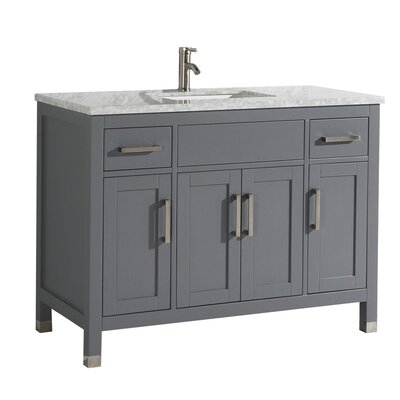 Peralez Modern 48 Single Bathroom Vanity Set Base Finish: Gray