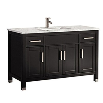 Peralez Modern 48 Single Bathroom Vanity Set Base Finish: Espresso