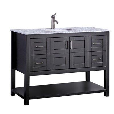 Mallouk Modern 48 Single Bathroom Vanity Set Base Finish: Espresso