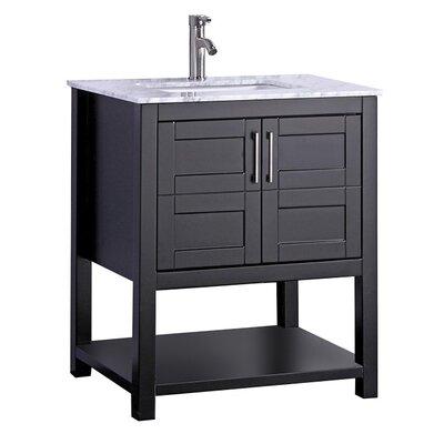Mallouk Modern 30 Single Bathroom Vanity Set Base Finish: Espresso