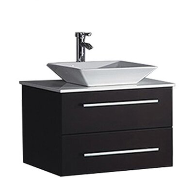 Govea Modern Wall Mounted 36 Single Bathroom Vanity Set Base Finish: Espresso
