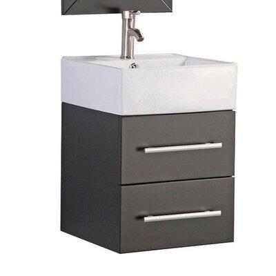 Poulos Wall Mounted Modern 18 Single Bathroom Vanity Set Base Finish: Espresso