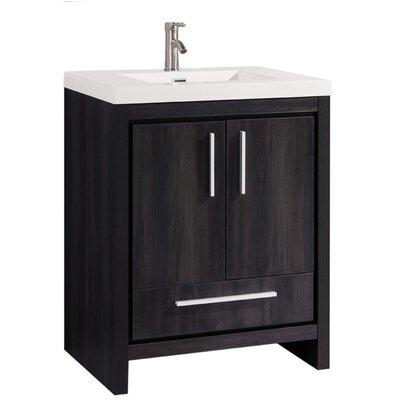 Peiffer Modern 30 Single Bathroom Vanity Set Base Finish: Black Walnut