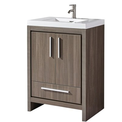 Peiffer Modern 30 Single Bathroom Vanity Set Base Finish: Gray Pine