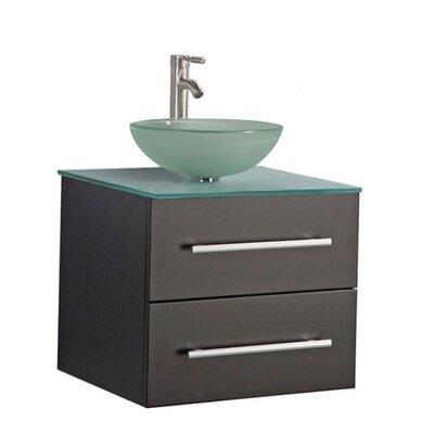 Peirce Wall Mounted Modern 24 Single Bathroom Vanity Set Base Finish: Espresso