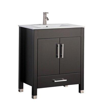 Predmore Modern 30 Single Bathroom Vanity Set Base Finish: Espresso
