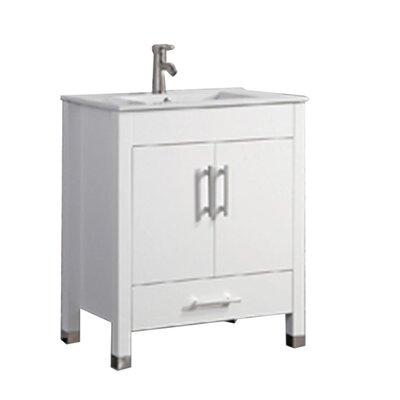 Predmore Modern 30 Single Bathroom Vanity Set Base Finish: White