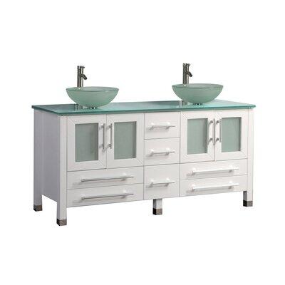 Prange Modern 61 Double Bathroom Vanity Set Base Finish: Espresso