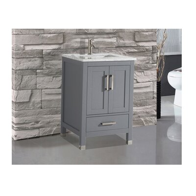 Peralez Modern 24 Single Bathroom Vanity Set Base Finish: Gray