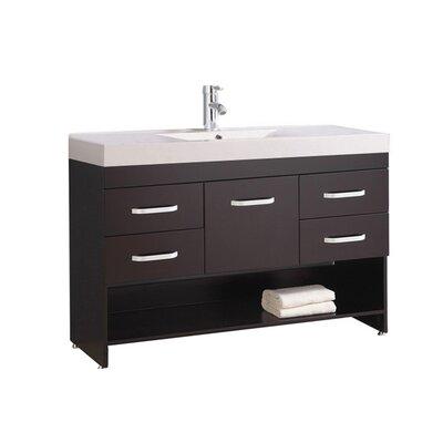 Preas Modern 48 Single Bathroom Vanity Set Base Finish: Espresso