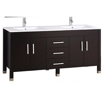 Predmore Modern 63 Double Bathroom Vanity Set Base Finish: Espresso