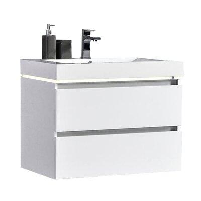 Pegram 24 Single Sink Bathroom Vanity Set Base Finish: White