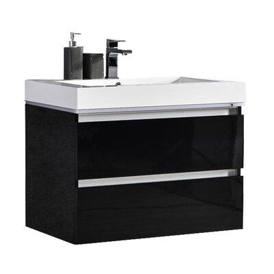Pegram 30 Single Sink Bathroom Vanity Set Base Finish: Black