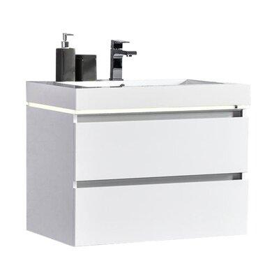 Pegram 30 Single Sink Bathroom Vanity Set Base Finish: White