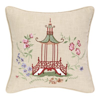 Marinella Pagoda Linen Throw Pillow