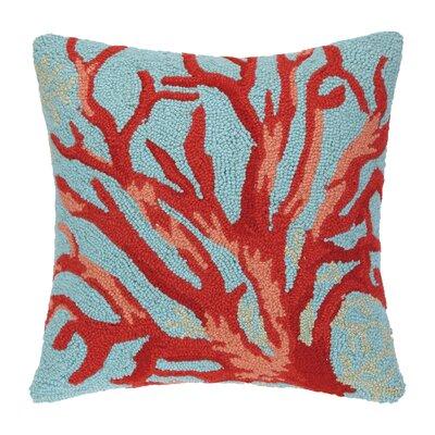 Sealife Coral Hook Wool Throw Pillow