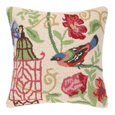 Marinella Bird Hook Wool Throw Pillow