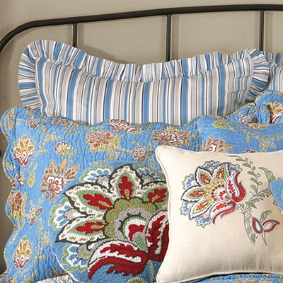 Jacobean Euro Sham Color: Blue