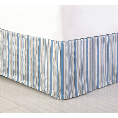 Jacobean Bed Skirt Size: King, Color: Blue