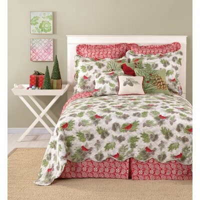 Colorful Printed Bedskirt Size: Queen