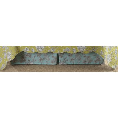 Ocean Botanical Bedskirt Size: Queen