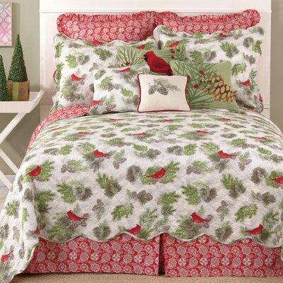 Winter Bird Reversible Quilt Size: King