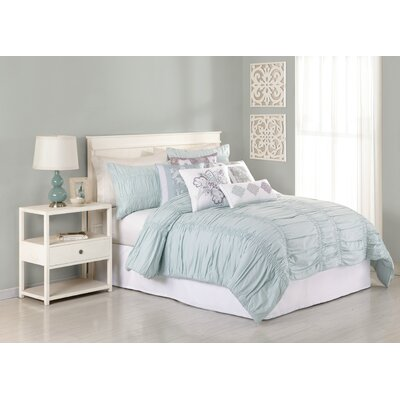 Heirloom Katarina 3 Piece Comforter Set Size: Queen, Color: Blue