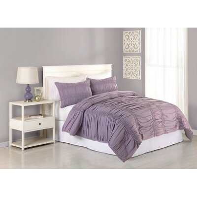 Heirloom Katarina 3 Piece Comforter Set Size: Queen, Color: Lavender