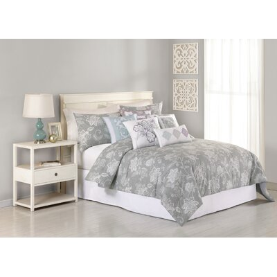 Heirloom Henrietta 3 Piece Comforter Set Size: King, Color: Gray