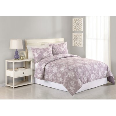 Heirloom Henrietta 3 Piece Comforter Set Size: Queen, Color: Lavender